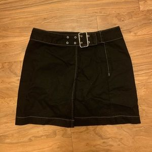 Wrap skirt with buckle from Topshop